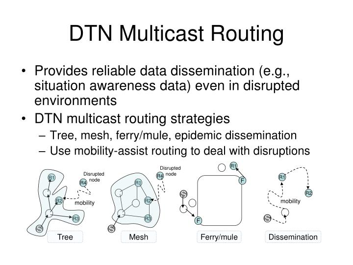 Dtn multicast routing