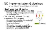 nc implementation guidelines s lee u lee k w lee m gerla secon 2008