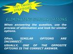 eliminating similar options