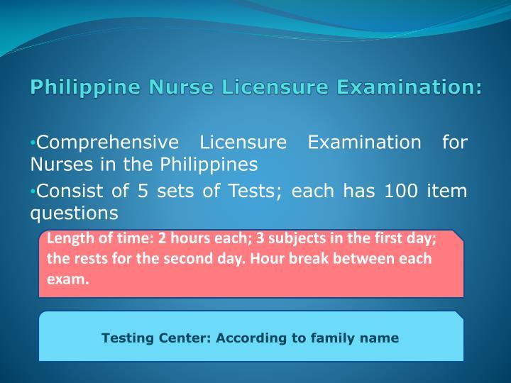Philippine Nurse Licensure Examination: