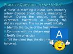 practice question assessment