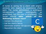 practice question implementation