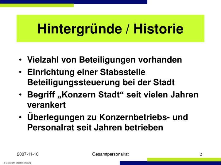 Hintergründe / Historie