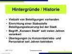 hintergr nde historie