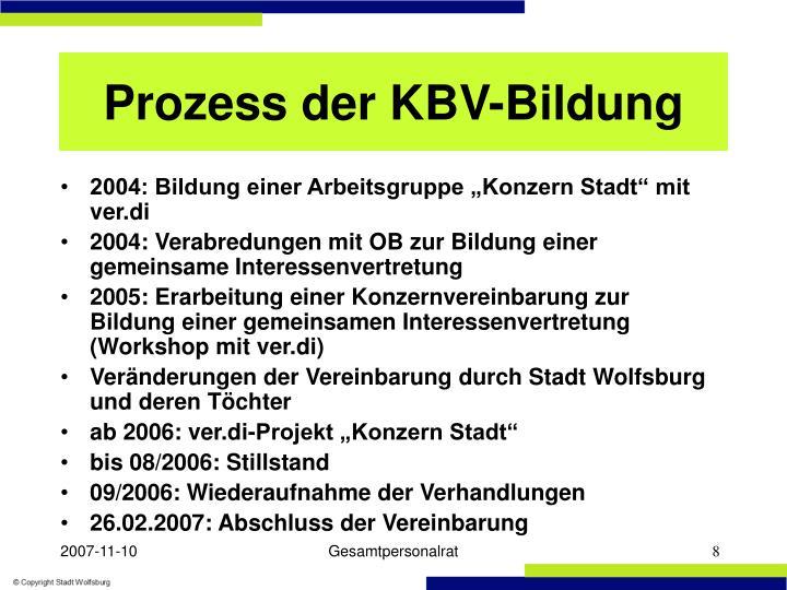 Prozess der KBV-Bildung