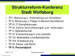 strukturreform konferenz stadt wolfsburg