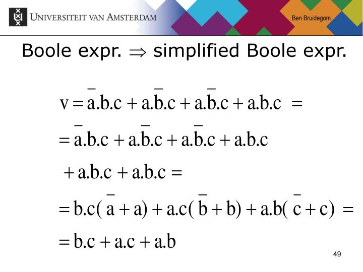 Boole expr.