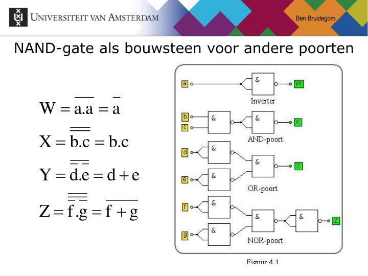 NAND-gate als bouwsteen voor andere poorten