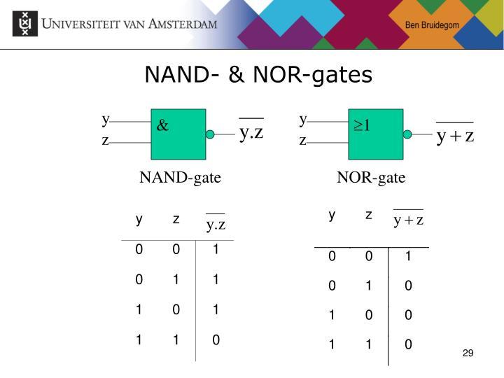 NAND- & NOR-gates