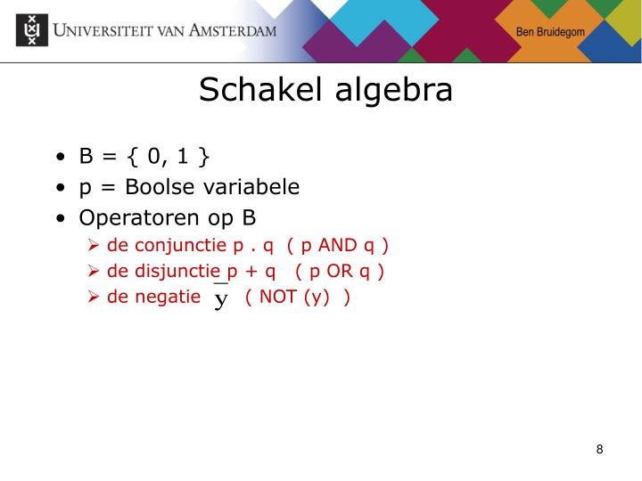Schakel algebra