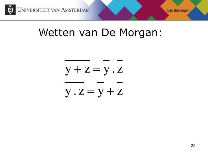 Wetten van De Morgan: