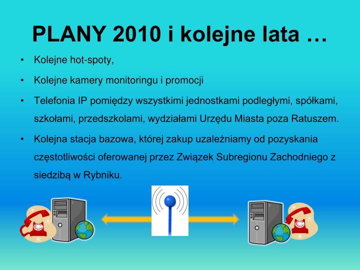 PLANY 2010 i kolejne lata …