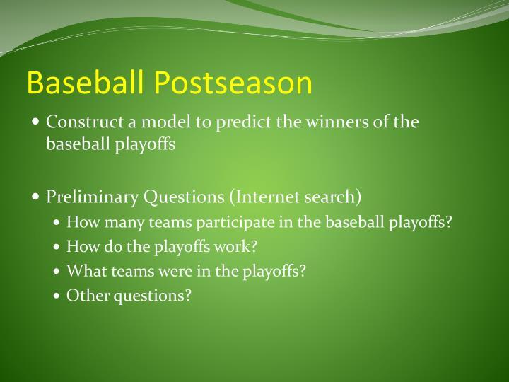 Baseball Postseason