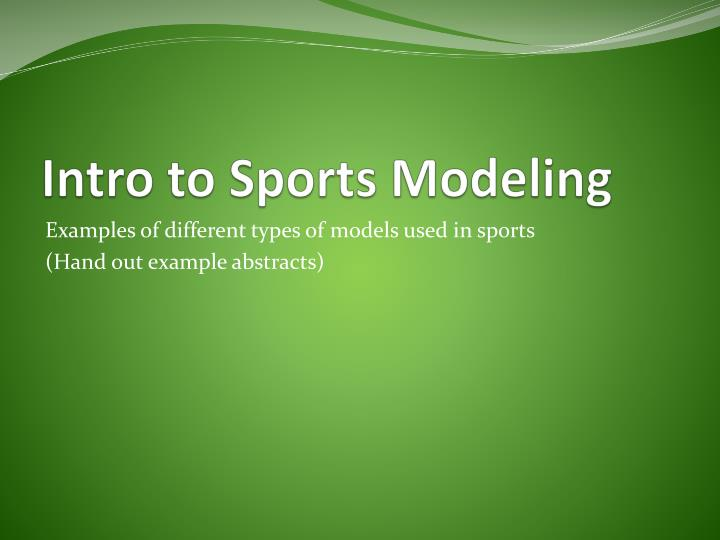 Intro to Sports Modeling