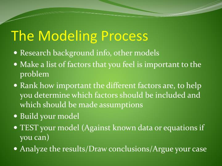 The Modeling Process