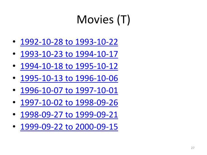 Movies (T)