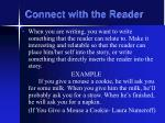 connect with the reader