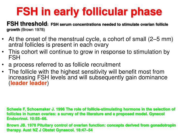 FSH in early follicular phase