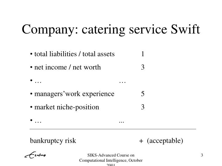 Company catering service swift