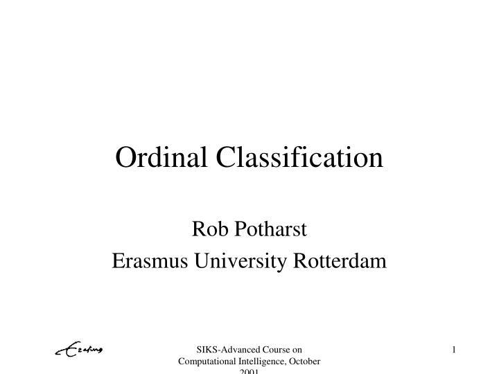 ordinal classification