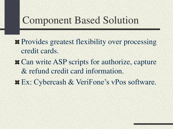 Component Based Solution