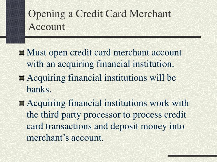 Opening a Credit Card Merchant Account