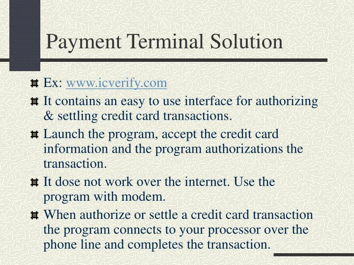 Payment Terminal Solution