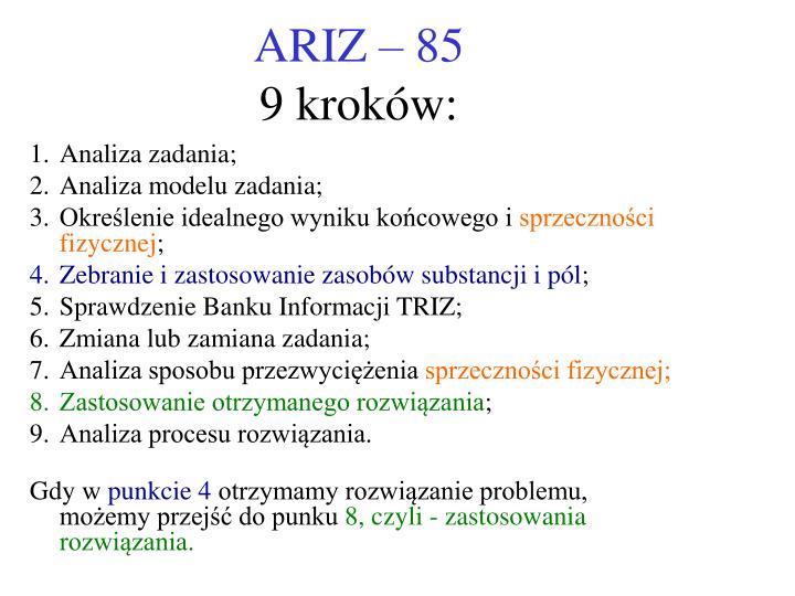 ARIZ – 85