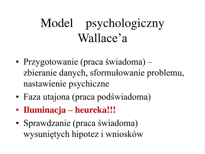 Model    psychologiczny  Wallace'a