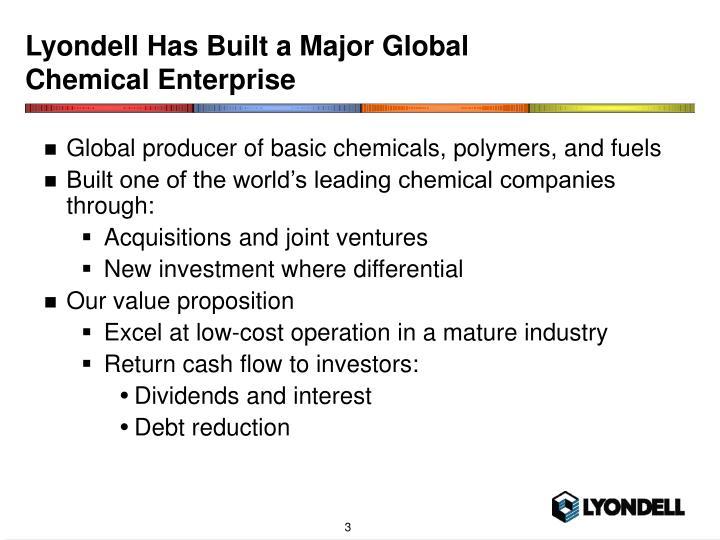 Lyondell Has Built a Major Global