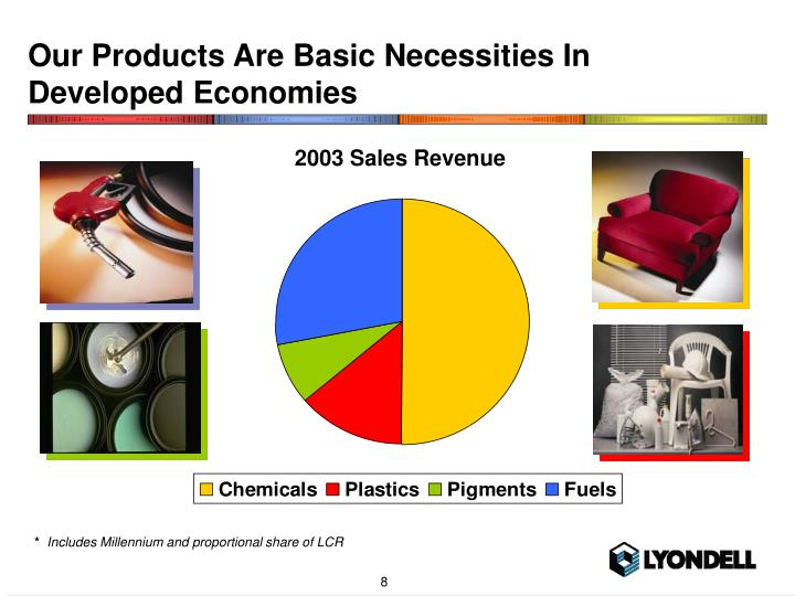Our Products Are Basic Necessities In Developed Economies