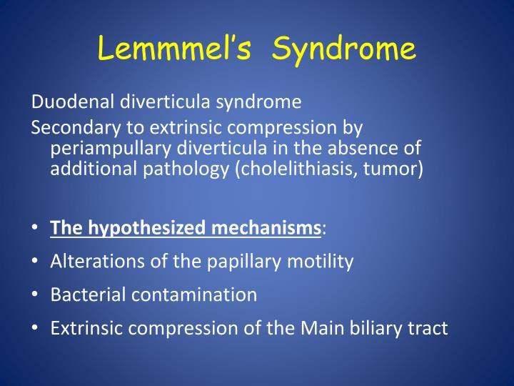 Lemmmel's  Syndrome