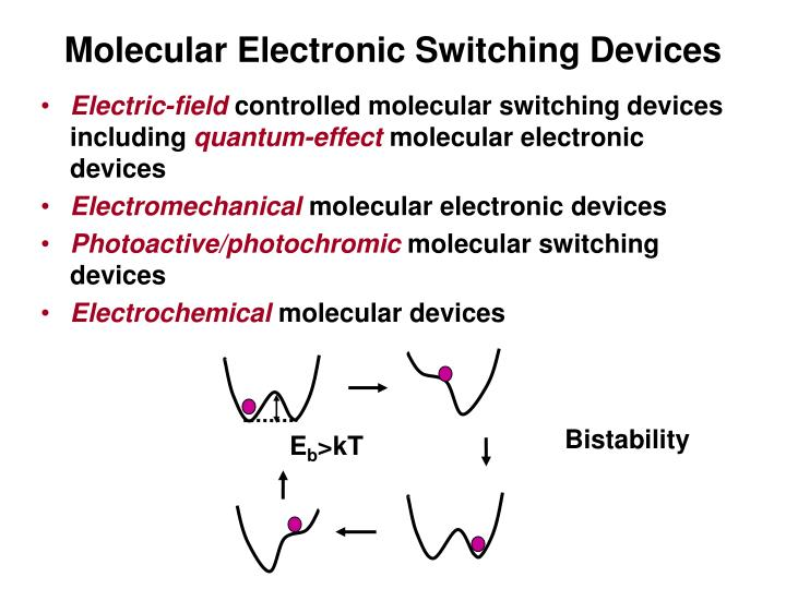 Molecular electronic switching devices