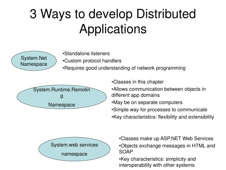 3 Ways to develop Distributed Applications