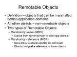 remotable objects