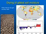 drying of global soil moisture