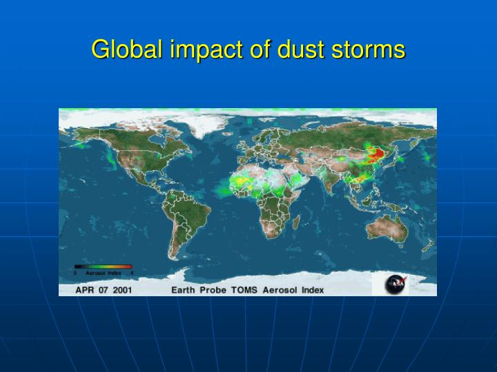 Global impact of dust storms