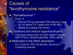 causes of levothyroxine resistance