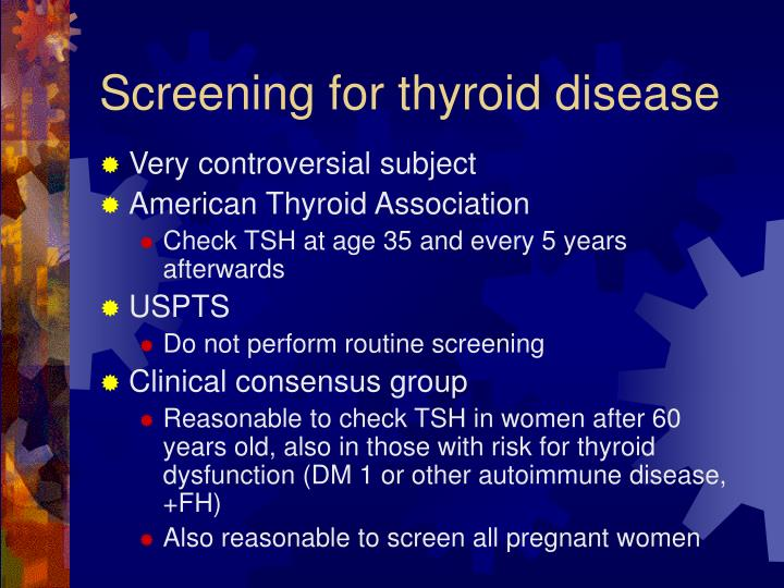 Screening for thyroid disease