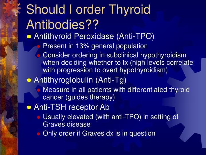 Should I order Thyroid Antibodies??