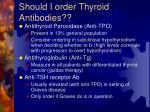 should i order thyroid antibodies