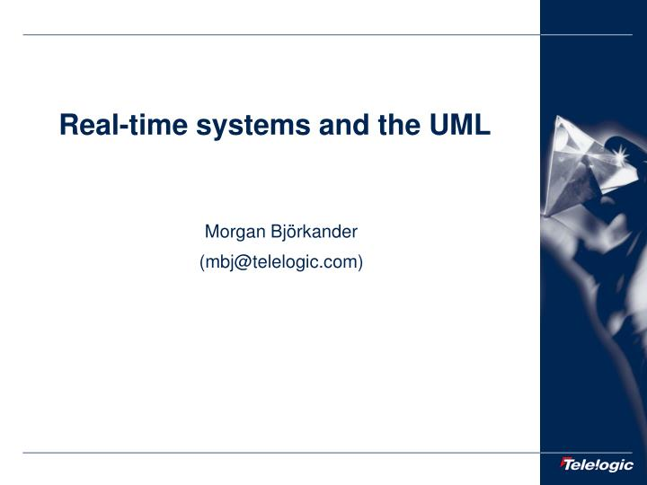 real time systems and the uml