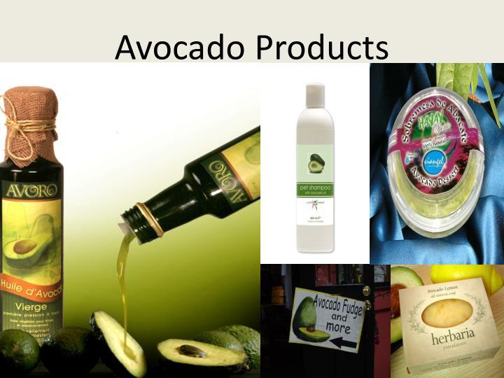 Avocado Products