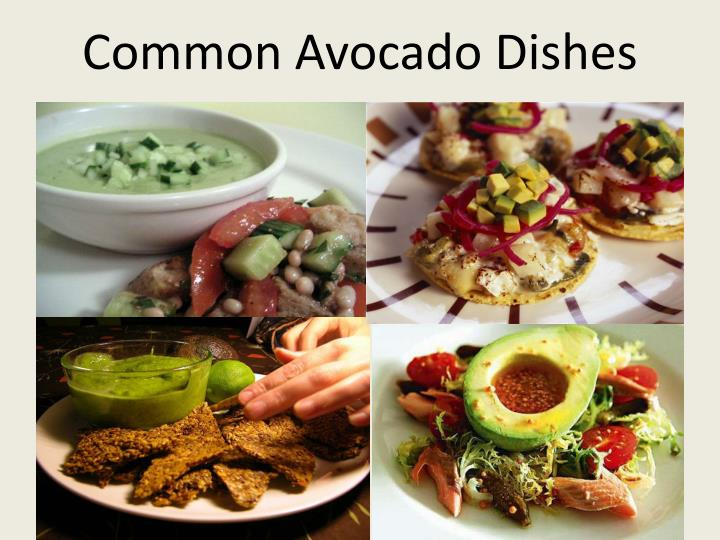 Common Avocado Dishes