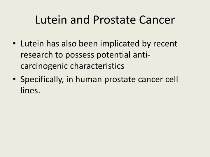 Lutein and Prostate Cancer