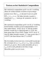 toetsen en het statistisch compendium