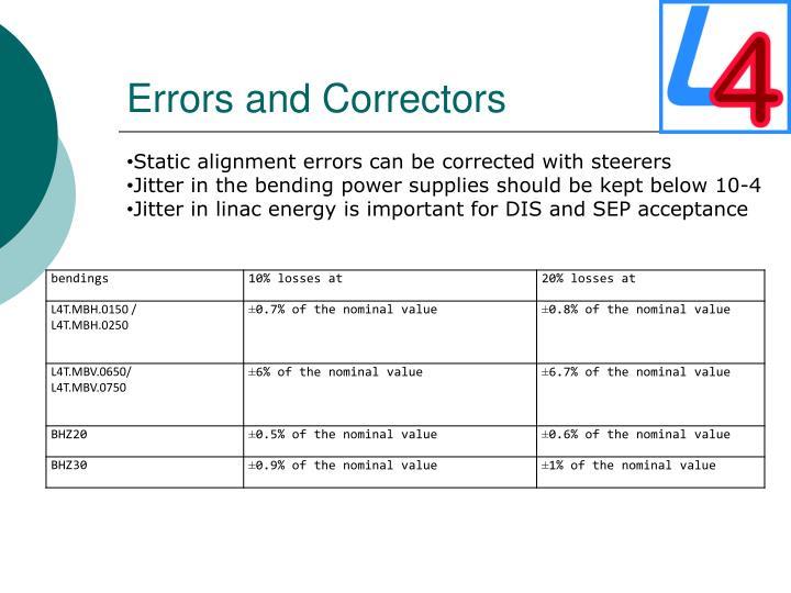 Errors and Correctors