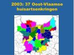 2003 37 oost vlaamse huisartsenkringen