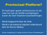 provinciaal platform