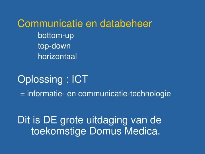 Communicatie en databeheer
